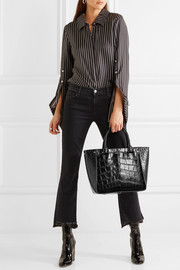 Inside Out croc-effect leather tote