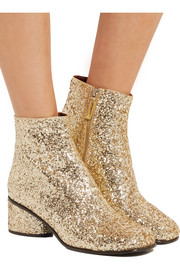 Marc Jacobs Camilla glittered leather ankle boots