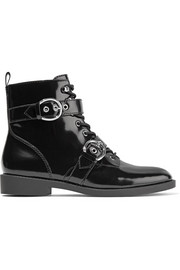 Marc Jacobs Taylor lace-up patent-leather ankle boots