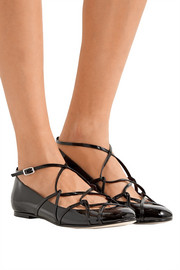 Marc Jacobs Claudia Ghillie patent-leather ballet flats