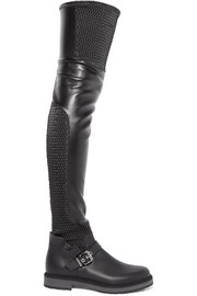 Fendi Quilted stretch-leather over-the-knee boots
