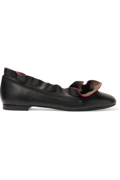 Marketable Cheap Online Best Prices Sale Online Fendi Leather Ballet Slippers A99LDDyc