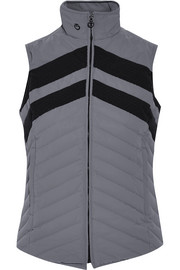 Fashion Show paneled quilted shell down gilet