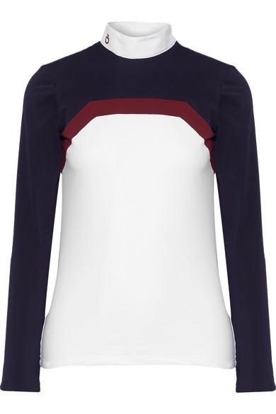 Cavalleria Toscana - Frame Line Show Poplin-trimmed Stretch-jersey Top - White