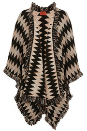 Missoni Fringed wool-blend crochet-knit wrap