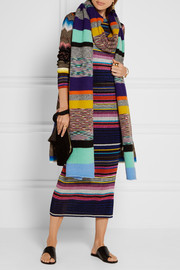Missoni Striped alpaca-blend scarf
