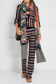 Missoni Wool-blend crochet-knit scarf
