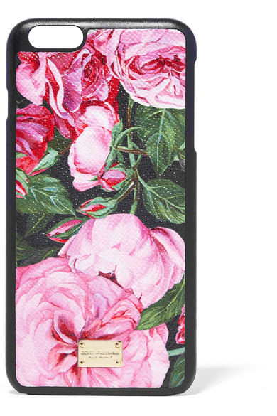 6f8e4ed078 Dolce & Gabbana   Printed textured-leather iPhone 6 Plus case   NET ...