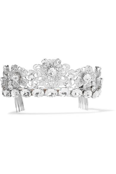 Dolce & Gabbana - Palladium-tone Crystal Headpiece - Silver