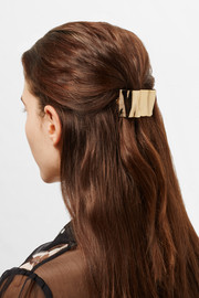 Crinkle gold-plated hairclip