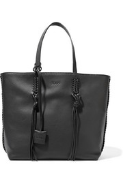 Tod's Gypsy whipstitched textured-leather tote