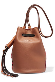 Gypsy textured-leather bucket bag
