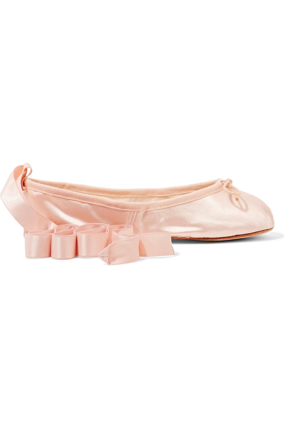 Satin Ballet Flats, Ballet Beautiful, Size: 36