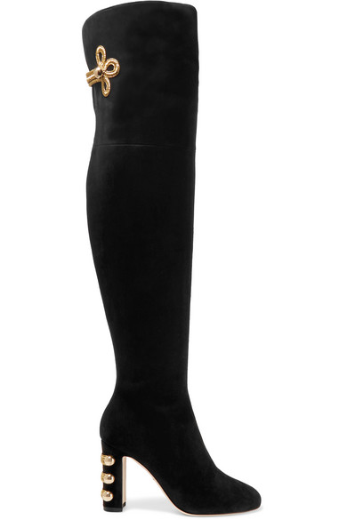 Dolce & Gabbana Suede Over-The-Knee Boots cheap sale professional YrTiy8