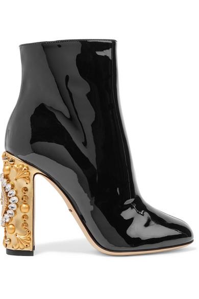 Dolce & Gabana Patent Leather Ankle Boots uKDX8KD