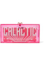 Galactic Penelope embellished Perspex clutch