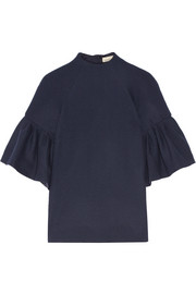 Ruffled wool top
