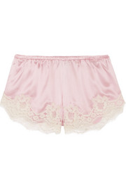 Dolce & Gabbana Lace-trimmed stretch silk-blend satin briefs