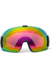 Cloud mirrored ski goggles