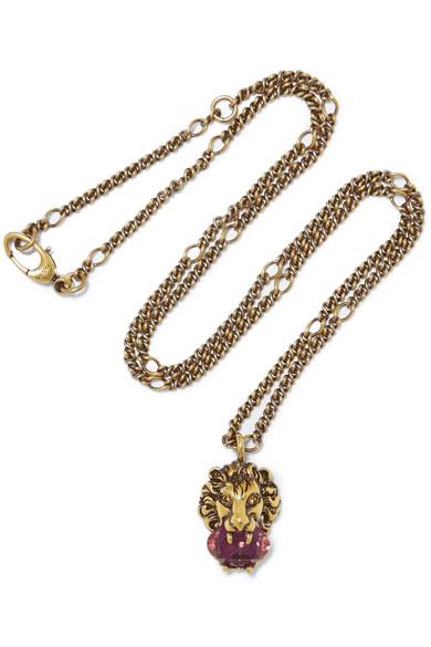 Gucci - Gold-tone Swarovski Crystal Necklace
