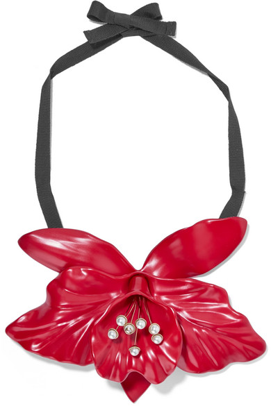 Gucci - Faux-pearl Resin Necklace - Red