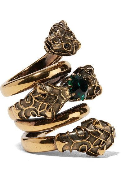 Gucci - Gold-plated Swarovski Crystal Ring