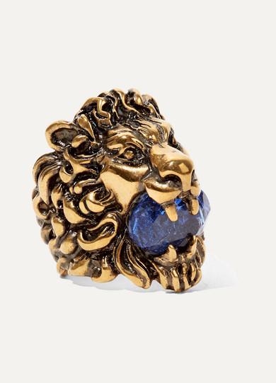 9b59e5996e2 Gucci. Gold-tone Swarovski crystal ring