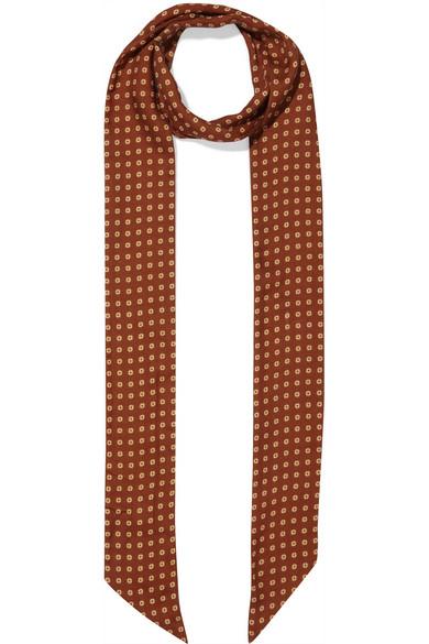 gucci female gucci printed cashmere and silkblend twill scarf brown