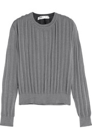 Pleated knitted sweater