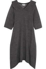 Oversized wool-blend midi dress