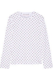 Polka-dot cotton-jersey top