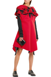 Junya Watanabe Asymmetric cutout neoprene dress