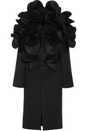 Ruffled neoprene coat