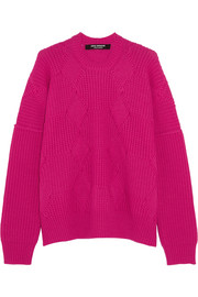 Origami-knit wool sweater