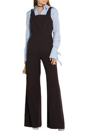 Cotton-blend twill jumpsuit