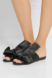 Knotted satin sandals