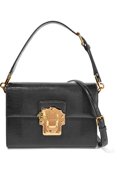 aa6a27671f Dolce   Gabbana. Lucia lizard-effect leather shoulder bag