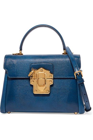 b388810a1498 Dolce   Gabbana. Lucia medium lizard-effect leather shoulder bag