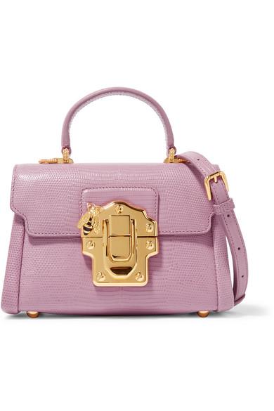 Dolce   Gabbana   Lucia mini lizard-effect leather shoulder bag ... ca41cc35a7