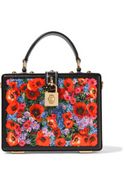 Dolce & Gabbana Dolce printed lizard-effect leather shoulder bag