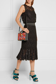 Dolce printed lizard-effect leather shoulder bag