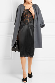 Dolce & Gabbana Lace-paneled silk-blend satin dress