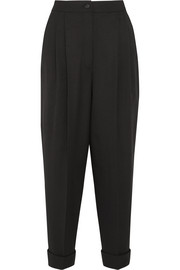 Dolce & Gabbana Cropped stretch wool-blend tapered pants