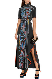 Peter Pilotto Embroidered cady maxi dress