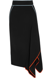 Asymmetric wrap-effect cady skirt