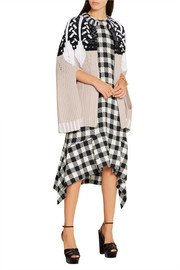 Peter Pilotto Intarsia wool-blend cape
