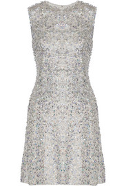 Jenny Packham Sequined silk mini dress