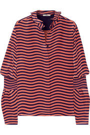 Fendi Striped silk-cady blouse