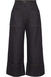 Fendi High-rise wide-leg jeans