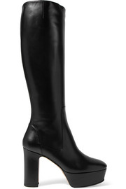 Gucci Leather platform knee boots